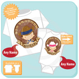 Big Brother Little Sister Sibling set of 2, Personalized Cute Cowboy Cowgirl set 03252016b
