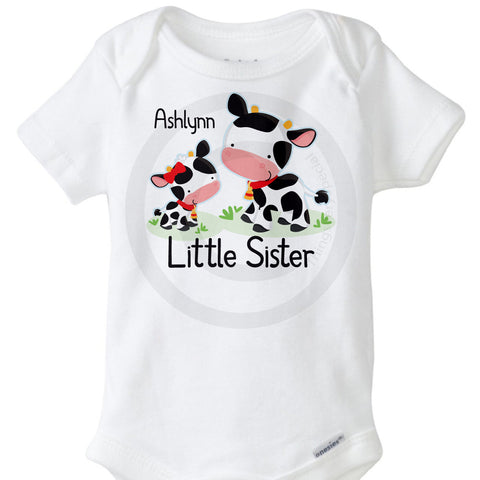 Cow Little Sister Onesie Bodysuit