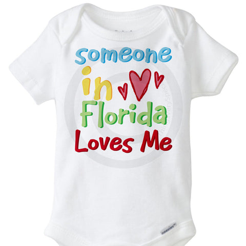 Someone in Florida Loves me Onesie Bodysuit