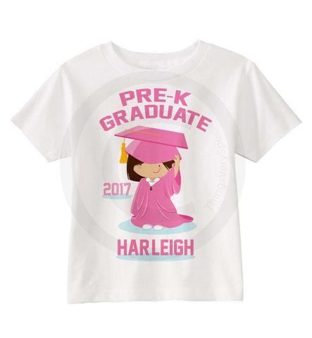 Girl's Pre-K Graduation Shirt