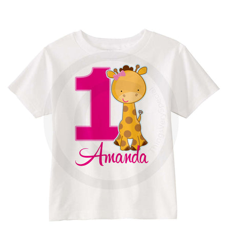 Giraffe Birthday Shirt for girls