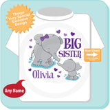 Elephant Big Sister Shirt, Pregnancy Announcement 04102015f