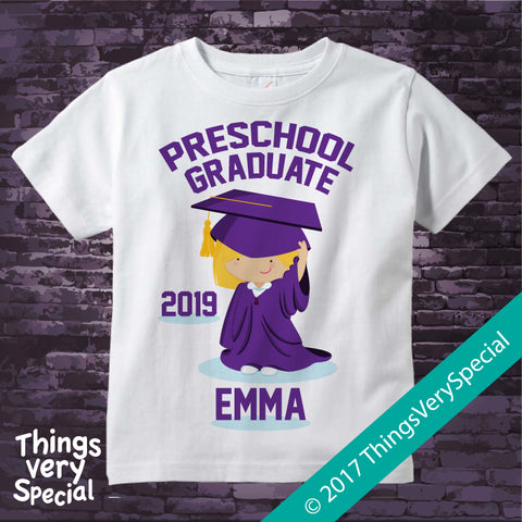 Preschool Graduation shirt for girls