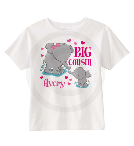 Elephant Big Cousin shirt for Girls
