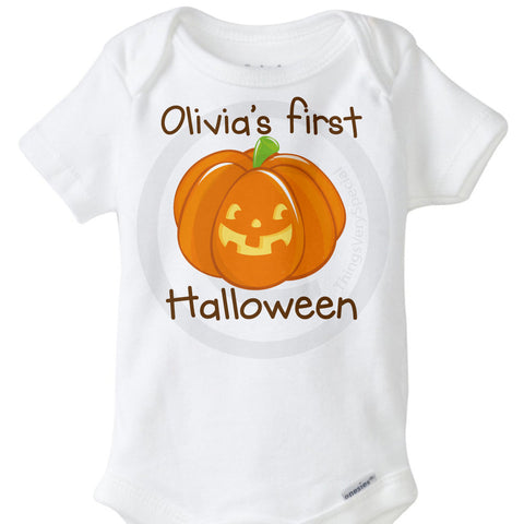 Personalized Baby's First Halloween Onesie Bodysuit