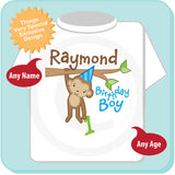 Monkey Safari or Zoo Theme Birthday shirt for boys 05012014f