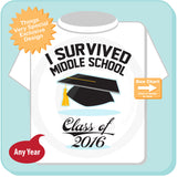 I survived Middle School Tee Shirt 05182016a