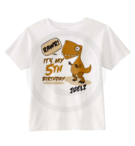 Dinosaur 5th Birthday Shirt Personalized Dino 5 Year Things Very Special