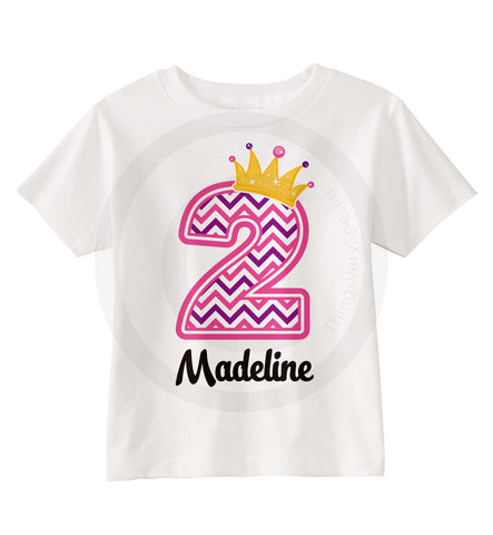Chevron Birthday shirt for 2 year old girl