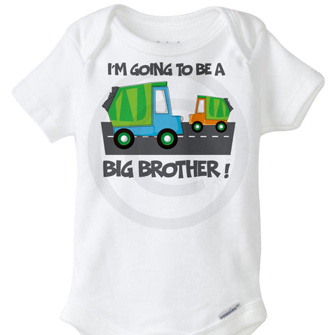 Garbage Truck Big Brother Onesie Bodysuit