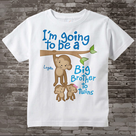 I'm going to be A Big Brother to Twin Boy/Girl Shirt 06052014c