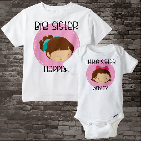 Big Sister and Little Sister Shirt set 06092017a