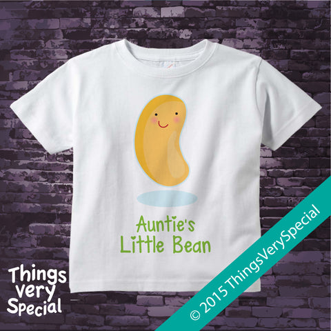 Auntie's Little Bean t-shirt 100% Cotton Short or Long Sleeve