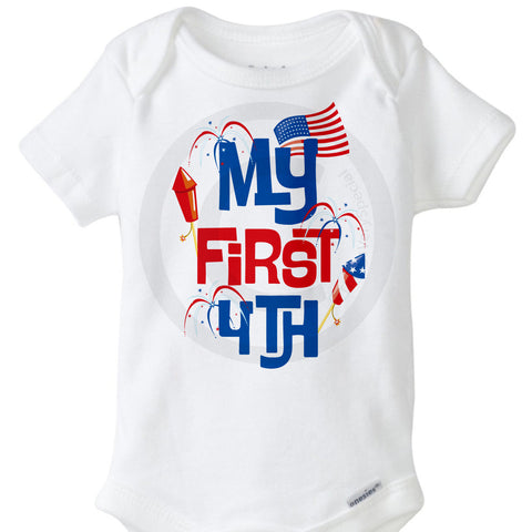 My First 4th of July Onesie Bodysuit | 06182012a ThingsVerySpecial