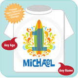 Boy's First Birthday Personalized Surfing Shirt for Beach Theme Party 06242014d