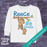 Monkey Big Cousin Tee Shirt or Onesie Bodysuit 06292012b