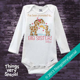Giraffe Promoted To Big Sister Onesie Bodysuit 100% Cotton Short or Long Sleeve