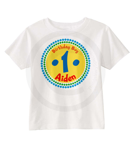 Primary Color Birthday Shirt for Boys