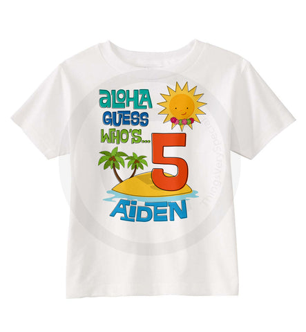 5 Year Old Boy 07022014b Hawaiian Luau Birthday Shirt For Boys