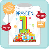 Personalized Circus Birthday Shirt with Name for one year old First Birthday Circus Theme 07102015g