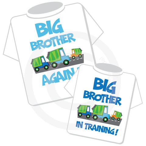Matching Set of two Big Brother again and Big Brother in Training Garbage Truck shirts
