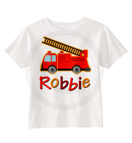 Fire Truck Birthday Shirt for Boys 07162012a ThingsVerySpecial
