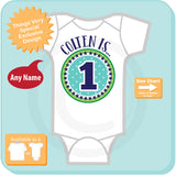 First Birthday Onesie, Blue Green 1, 1st Birthday Shirt, Personalized Boys Birthday, Baby Boys Outfit Gift 07222016a