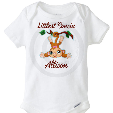 Littlest Cousin Monkey Onesie Bodysuit 07252016b