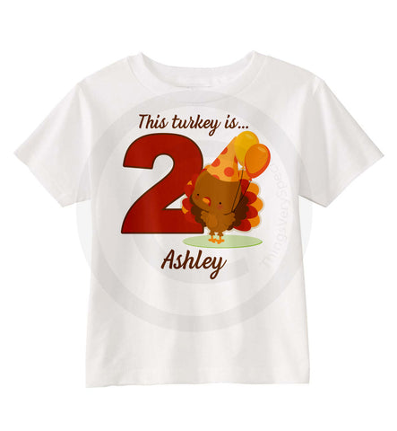 Second Birthday Turkey Shirt for Girls
