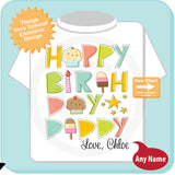 Happy Birthday Daddy shirt - Let your little girl wish Daddy a happy birthday 08072014a