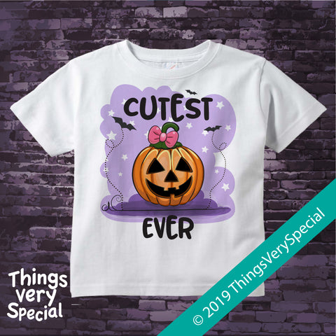 Halloween Shirt, Cutest Pumpkin Ever Shirt short or long sleeve 100% cotton 08162019d