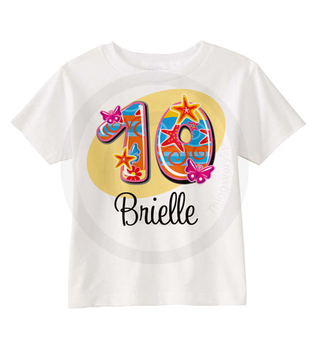 Tenth Birthday Shirt for girls