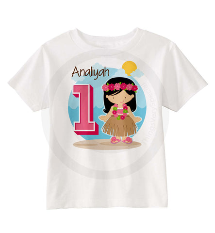 Hawaiian Hula Birthday Shirt | 08202015a | ThingsVerySpecial