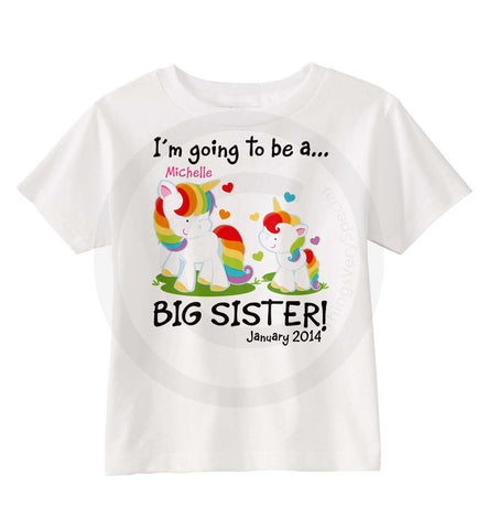 Unicorn Big Sister shirt | 08212013a | ThingsVerySpecial