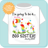 I'm Going to Be A Big Sister Unicorn Shirt with name and due date 08212013a