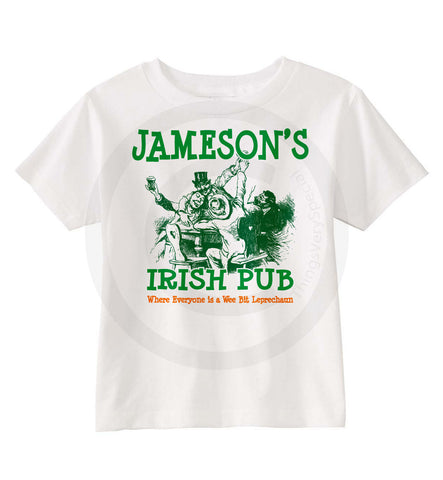 Personalized Irish Pub Tee Shirts for the whole family