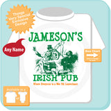 St. Patrick's Day Shirt - Your Last Name as an Irish Pub Logo - Custom Irish Put T shirt - 08212015c