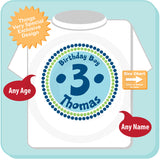 Third Birthday Boy Circle design in Green Light Blue and Dark Blue 08272014a