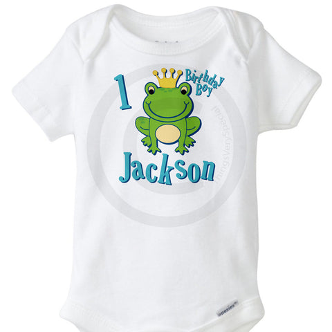 Frog Prince First Birthday Onesie Bodysuit