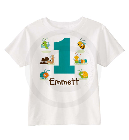 First Birthday Shirt for little boy that loves bugs