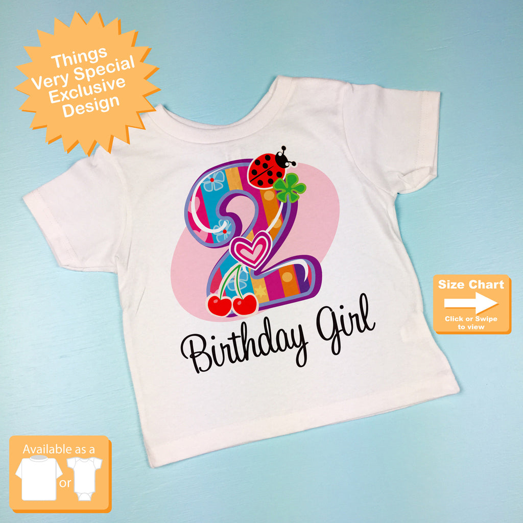 Second Birthday Girl Shirt Fancy Number 2nd Girls Things Very Special