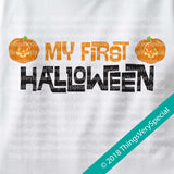 Baby One Piece outfit Personalized Baby's first Halloween Onesie 1st Halloween Onesie, Cute Pumpkin 09212018b2