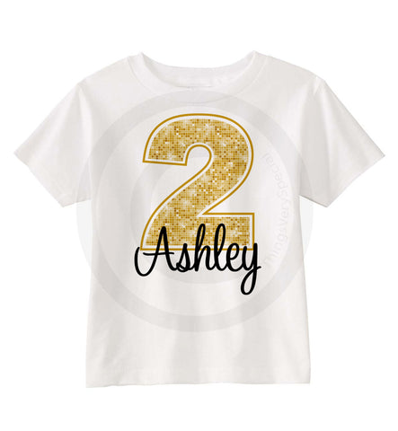 Golden Birthday Shirt for Girls