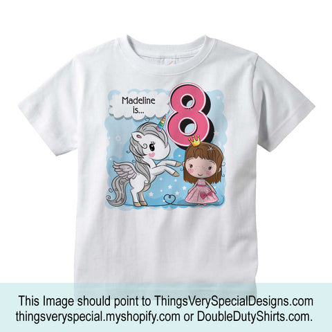 Cute Unicorn Birthday Shirt For An 8 Year Old Girl 10022018d8