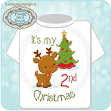 Baby's 2nd Christmas Shirt - Second Christmas t-shirt - Christmas outfit for baby - 10032012b