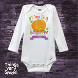 Baby One Piece outfit Personalized Baby's first Halloween Onesie 1st Halloween Onesie, Cute Pumpkin 10082018b