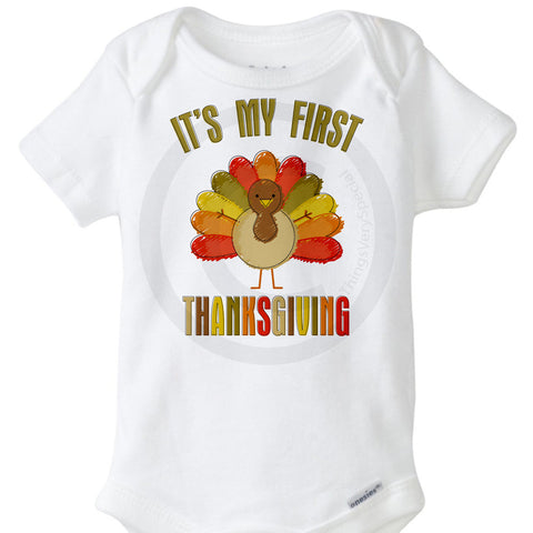 First Thanksgiving Onesie Bodysuit | 10152015c | ThingsVerySpecial