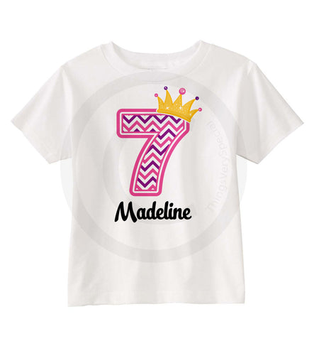 Chevron Princess Birthday Shirt