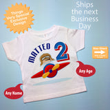 Airplane Pilot Birthday tee shirt for Boys with name and age, 2nd Birthday gift 11012015a