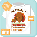 Thanksgiving Turkey Gender Reveal t-shirt - Gender Reveal outfit top - 11022015b